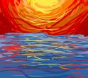 Soleil sur mer (brut)